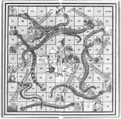 """Snakes & Ladders"", 100 felter (England, ca. 1920-25)"